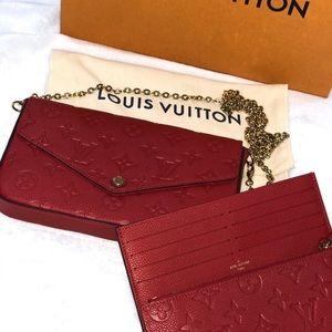 Authentic Louis Vuitton Pochette Felicie Cherry